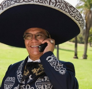 Mexican on the phone